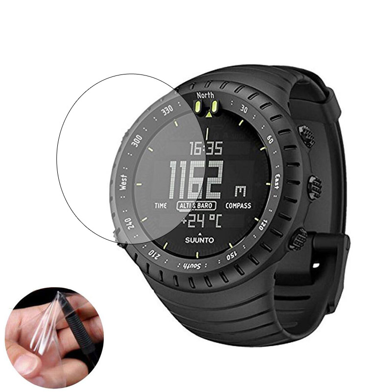 3pcs TPU Soft Clear Protective Film Guard For Suunto Core Watch GPS Sport All Black Smartwatch Screen Protector Cover (Not Glass