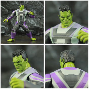 Avengers Endgame Hulk with Infinity Gauntled, Quantum Suit, Coat and Pants 8inch. 2