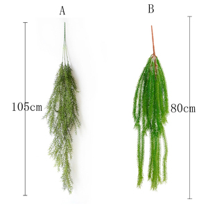 Image 5 - 105cm Artificial Plant Real Touch Pine Needle Fake Plant for Home Garden Wall Decoration Hanging Plant Artificial Vine