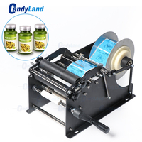 candyland Sleeve Manual Mineral Candy Plastic Round Alcohol Bottle Labeling Machine For Bottles Sticker Label Packing Machine