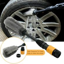15'' Car Wheel Cleaning Brush Tire Washing Clean Tyre Alloy Soft Bristle Cleaner Super Soft Durable Practical Car Accessories
