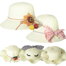 Summer Mini Casual Straw Hats for Girls 2020 Five Types New Holiday Style Woven Caps