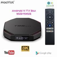 Boîtier Smart TV T95 Plus, Android 11, Rk3566, 4 go/32 go/8 go Ram/64 go Rom, IPTV, décodeur avec Wifi 2.4/5 ghz, 1000M/8K, Google Voice, Youtube