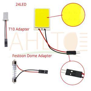 Автомобильные светодиодные лампы T10 C5W Cob 24 36 48SMD белого цвета для чтения, Автомобильные светодиодные лампы для парковки, авто интерьерный панельный светильник, светящийся светильник для номерного знака
