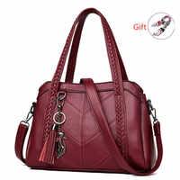 Bolsas de luxo bolsas femininas designer borla tecelagem couro genuíno bolsa feminina grande capacidade ombro crossbody hobo bolsa tote