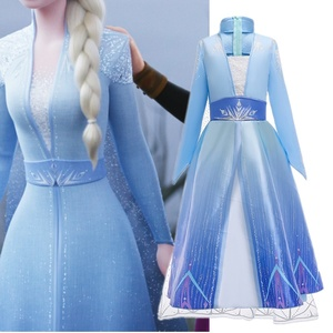 4-10 Yrs Girls Elsa 2 Queen Dress for Girl Disguise Anna Princess Dresses Baby Kids Halloween Party Gown Children Carnaval Dress(China)
