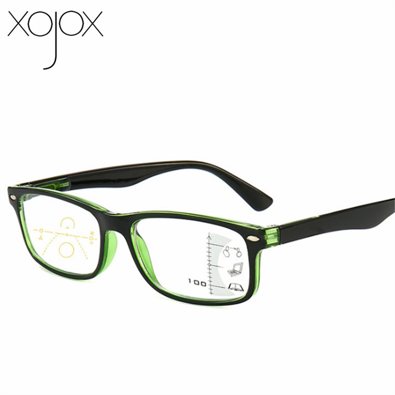 XojoX Progressive Multi-focus Reading Glasses Women Men Far Near Dual-use Glasses Anti-blue Hyperopia Eyewear Diopter +1.5 2.0