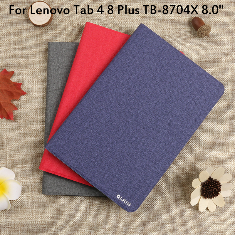 Flip Case For <font><b>Lenovo</b></font> Tab 4 8 Plus TB-8704X 8.0'' Cover Tablet Case Funda TAB4 8 plus TB-8704F TB-<font><b>8704</b></font> Full Protective Pouch Bags image