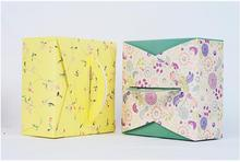 20pcs Printed Paper Box For Cookie,Kraft Cake With Handle,Party Cupcake Muffin Biscuit Packaging Gift