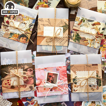 Mr.paper 6 Designs 30pcs Light Pickup Kit Suit Scrapbooking/Card Making/Journaling Project DIY Kraft Retro Writing paper
