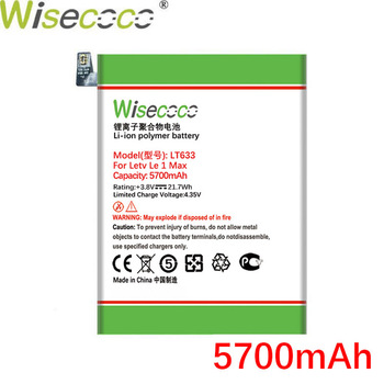 WISECOCO 5700mAh LT633 Battery For Letv Le 1 Max X900 Phone In Stock With High Quality +Tracking Number wisecoco bv9000 2pcs 7150mah new produced battery for blackview bv9000 bv 9000 pro high quality phone battery replace tracking