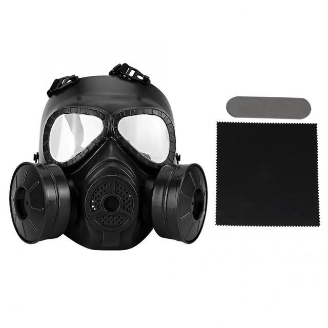 Полнолицевая противогаз, военная реальность, CS полевой защитный шлем, командировочная маска, респиратор, тушь для ресниц, газ, военная маска