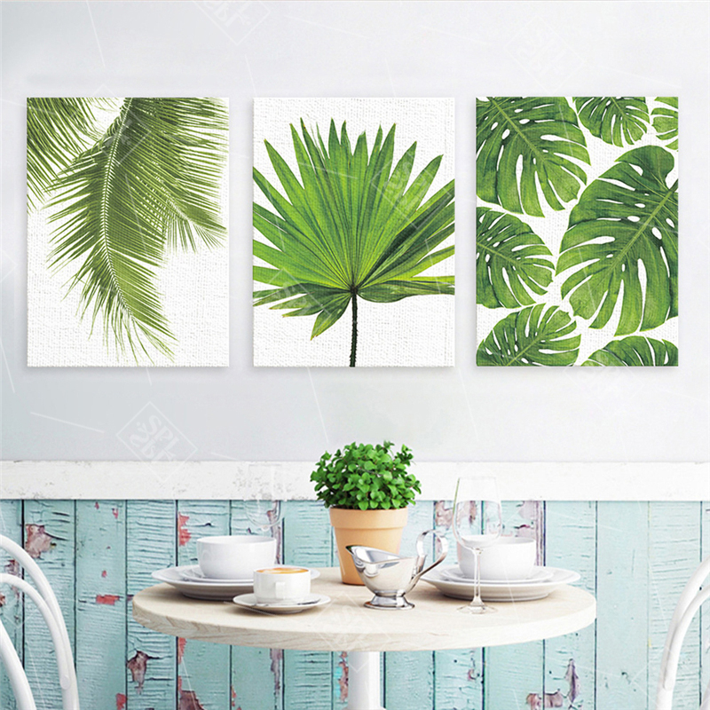 Tropical-Banana-Leaf-Canvas-Painting-Green-Plants-Nordic-Style-Kids-Room-Decor-Posters-and-Prints-Wall