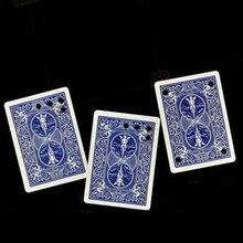 Плата матрицы движущиеся отверстие на синем покерном спине визуально, как полые волшебные карты трюк Wow волшебные игрушки, шутка классический Magie trucos de magia