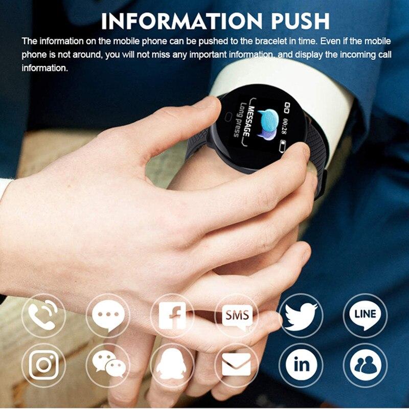 DOOLNNG 2020 D19 Smart Watch women Heart Rate Blood Pressure Health SmartWatch Men Bluetooth Watch Wristband Fitness Tracker 4
