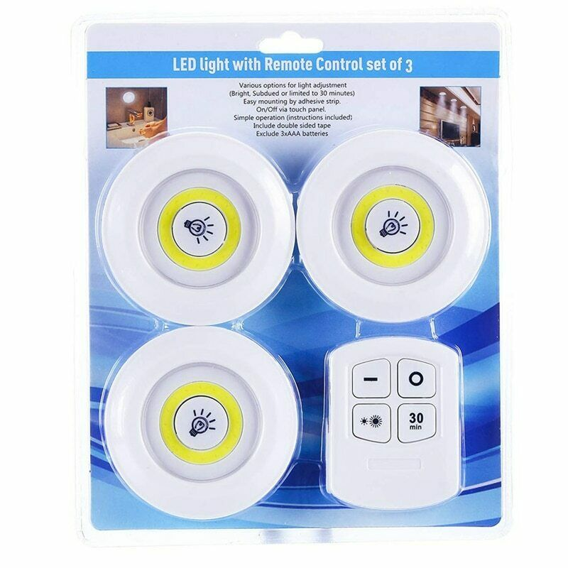Night Light Dimmable LED Cabinet Light With Remote Control Battery Operated LED Closets Lights For Wardrobe Bathroom Wall Lamps