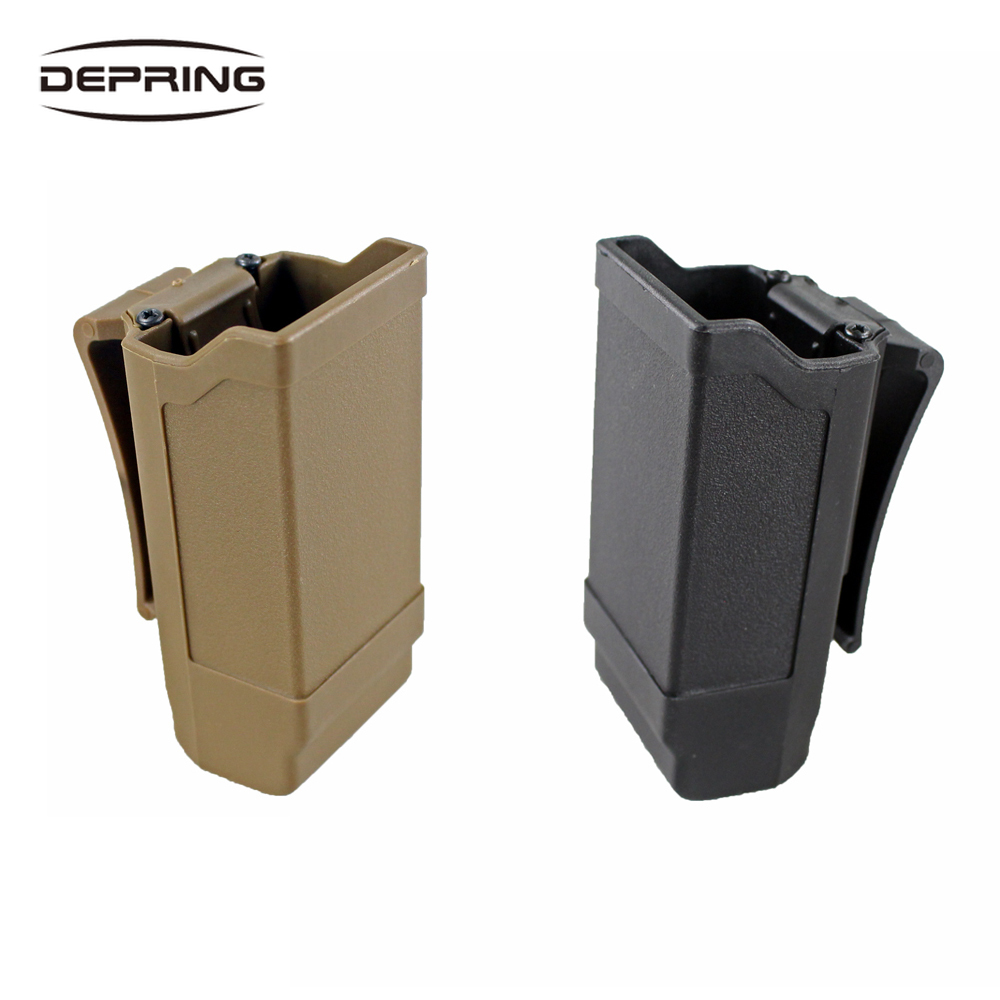 CQC Single Stack Magazine Pouch Holster Magazine Holder For Glock 9mm To .45 Caliber Magazine For Hunting Accessories