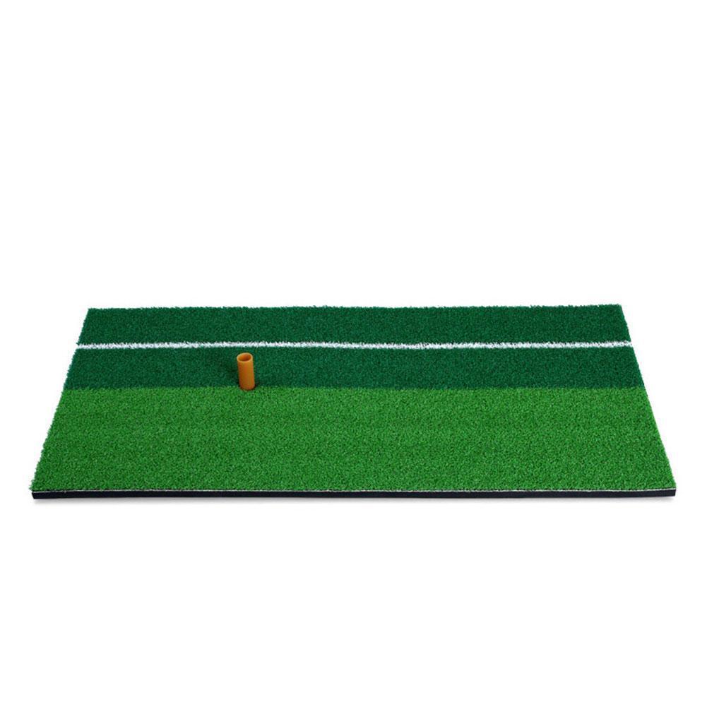Green Indoor Golf Mat Training Hitting Pad Practice Training Tools Grassroots 30x60cm Backyard Golf Mat Rubber Grass Q8Q2
