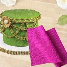 Alfombrilla de cocodrilo para decoración de tartas, molde de encaje de silicona, tapete de silicona, herramienta para pastel de Fondant, molde de silicona para Tartas H856