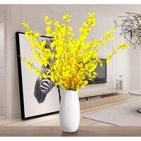 bedroom imitation flower decoration plastic dry flower silk flower false orchid decoration suit yellow dancing orchid Christmas