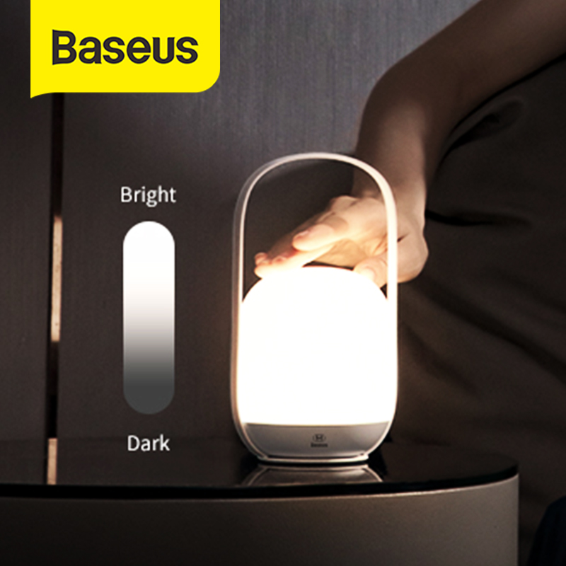 Baseus Handle Touch Dimmable Night Light Lantern Portable Table Lamp Reading Lamp 3000-5000K Rechargeable USB LED Light