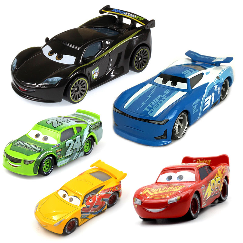Disney Pixar Cars 2 Cars 3 Lightning McQueen Mater Jackson Storm Ramirez Vehicle Metal Alloy Boy Kid Toys Christmas Gift