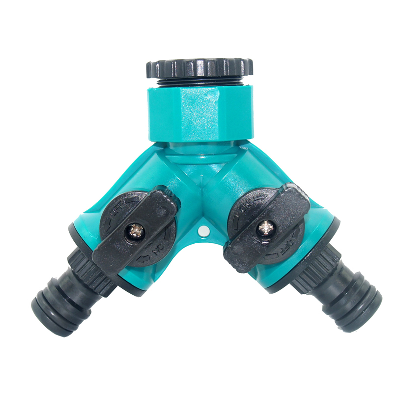 Y Type Tap Connectors with <font><b>Quick</b></font> Adapter <font><b>1/2</b></font> and 3/4 inch Water Inlet Garden Hose Splitter Y-Type Watering <font><b>Connector</b></font> Distributor image