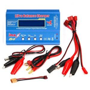 Image 2 - Cargador de batería Lipro Balance, cargador iMAX B6, cargador de equilibrio Digital Lipro + adaptador de corriente 12V 6A, Cables de carga