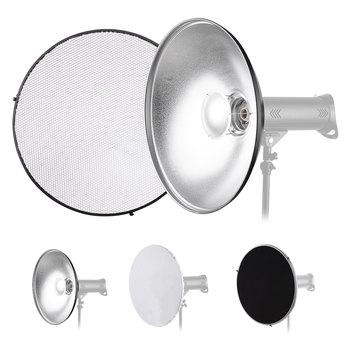 22 Cal fotografia studyjna reflektor Beauty Dish dyfuzor z ściereczka o strukturze plastra miodu do montażu Bowens Speedlite światło stroboskopowe tanie i dobre opinie CN (pochodzenie) Reflector 57 * 19cm Owalne about 2680g