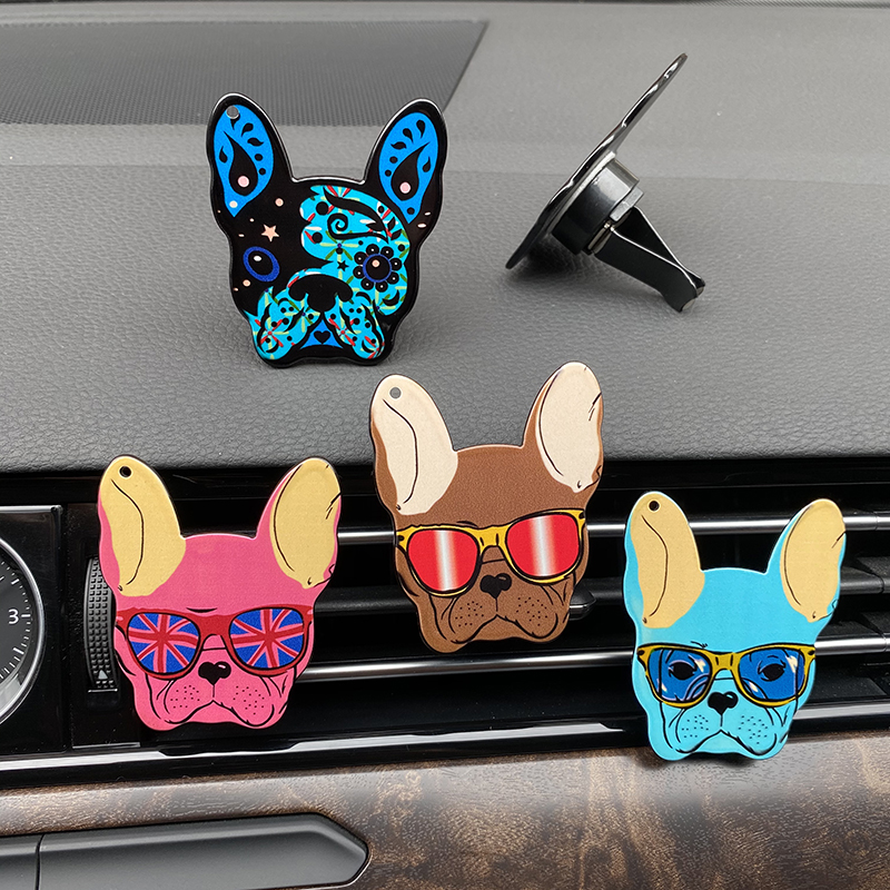 Outlet-Decoration Car-Ornament Dog-Perfume-Clip Air-Freshener Auto-Air-Conditioner French Bulldog