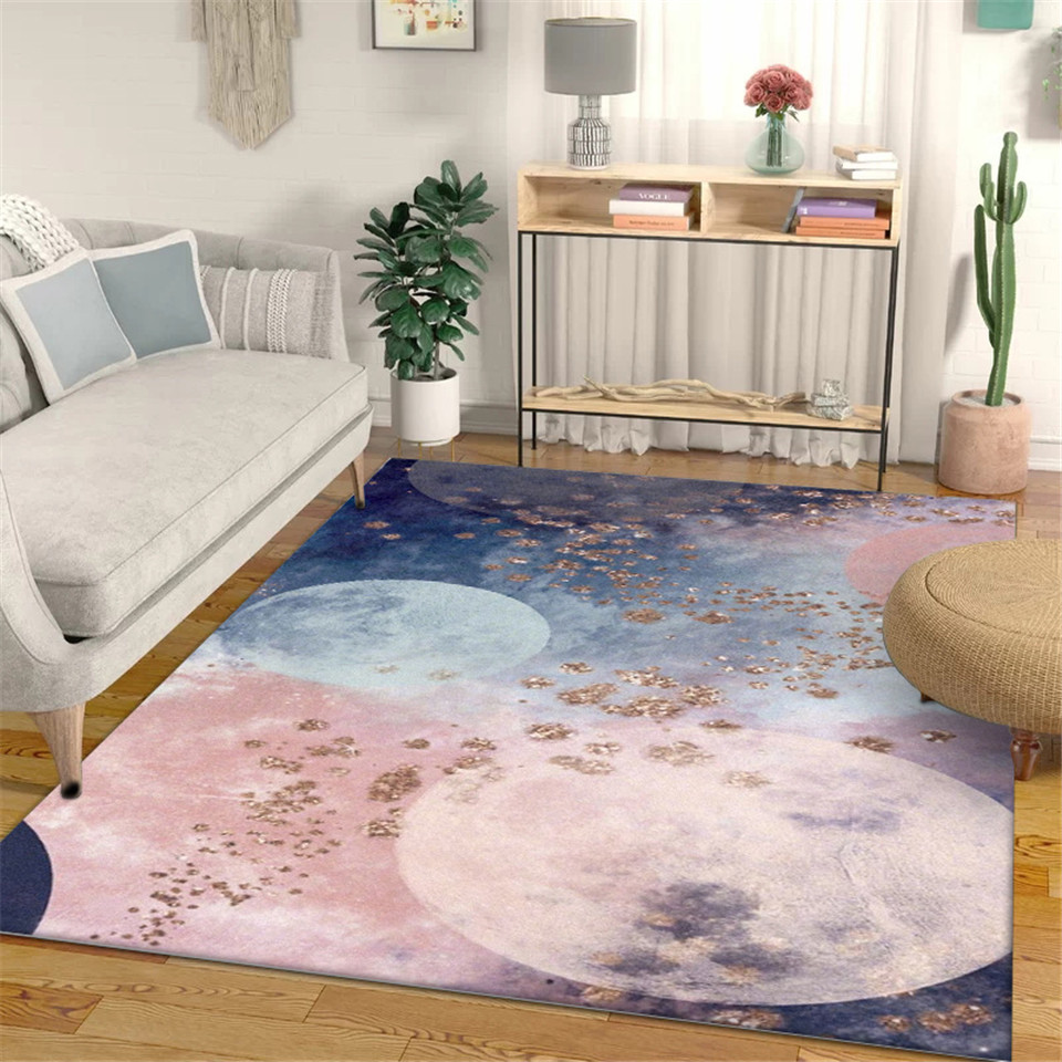 Nordic Pink White Gray Abstract Strip Living Room Floor Mat Carprt For Bedroom Girl Kitchen Runner Rug Bathroom Mat Anti Slip Leather Bag