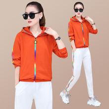 Женская спортивная одежда спортивный костюм свободная куртка