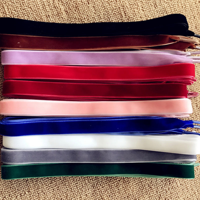 80 Cm/160 Cm Length 1 Cm Width Double-side Velvet Surface Shoelaces Women Men Black Colorful Leather Sports Casual Shoes Laces