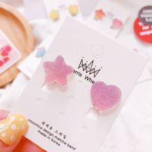 Soft Star Candy Color Ear Clip Earrings Non Pierced Ear Bone Invisible Women Jewelry Girl Gifts without Ear Hole for Women Simple Clip Earring Girl Wedding Jewelry pinksee hot korean chic gold silver color star ear bone clip on ear cuff clip earrings for women jewelry gifts