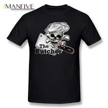 Butcher T Shirt The Butcher T-Shirt Graphic 100 Cotton Tee Shirt XXX Men Short Sleeve Classic Cute Tshirt peavey butcher
