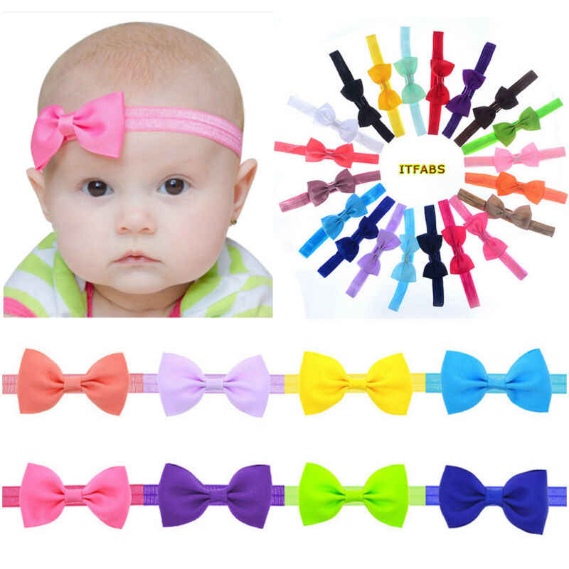 Ribbon Handmade DIY Baby Headband Toddler Infant Kids Hair Accessories Girl Newborn Bows bowknot bandage Turban tiara