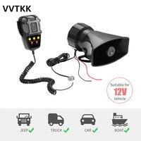 Five Sounds Tone Sound Car Emergency Siren Car Siren Horn Mic PA Speaker System Emergency Amplifier Hooter 12V 100W