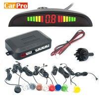 Radar de stationnement automatique d'affichage de LED de Kit de capteur de stationnement de voiture avec le système de détecteur de moniteur de sauvegarde inverse de 4 capteurs