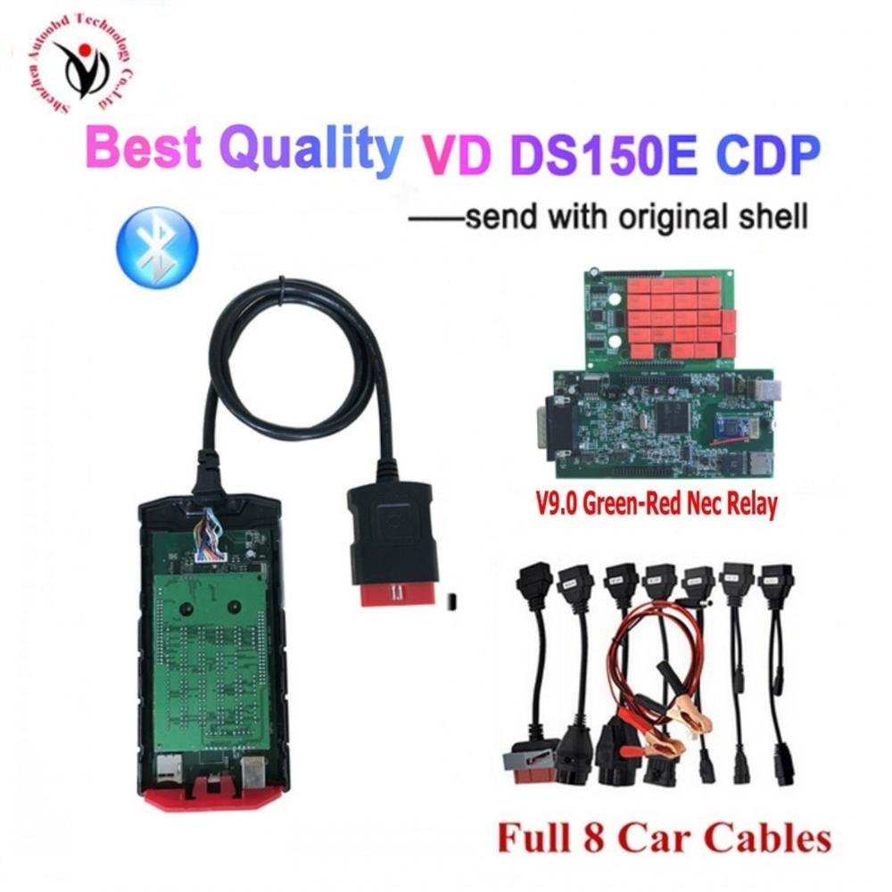 2020 New V9.0 Board Vd Ds 150e Cdp With Bluetooth 2016.R0 OBD2 Scanner Tool For Delphis Diagnostic Tool +full 8 Car Cables