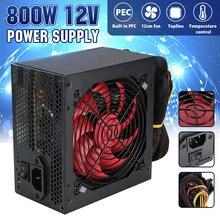 Alimentation PC multicanal 800W, avec ventilateur de 12cm, pour PC Intel AMD 12V, ATX SLI, PCI-E Gaming