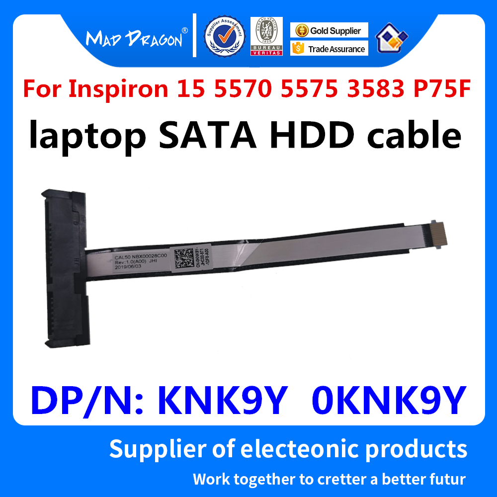 New Original Laptop SATA HDD Cable Hard Drive Cable For Dell Inspiron 15 5570 5575 3583 P75F CAL50 KNK9Y 0KNK9Y NBX00028C00