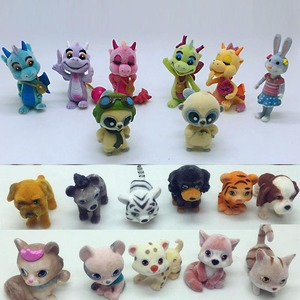8pcs/lot cartoon animal cat mouse action figures Cute flocking various animals model toys children play house toys