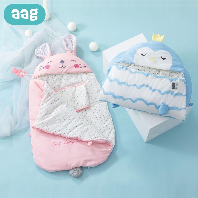 AAG Baby Sleeping Bag Swaddle Stroller Envelope For Discharge Newborns Diaper Cocoon Maternity Hospital Discharge Kit Sleepsack