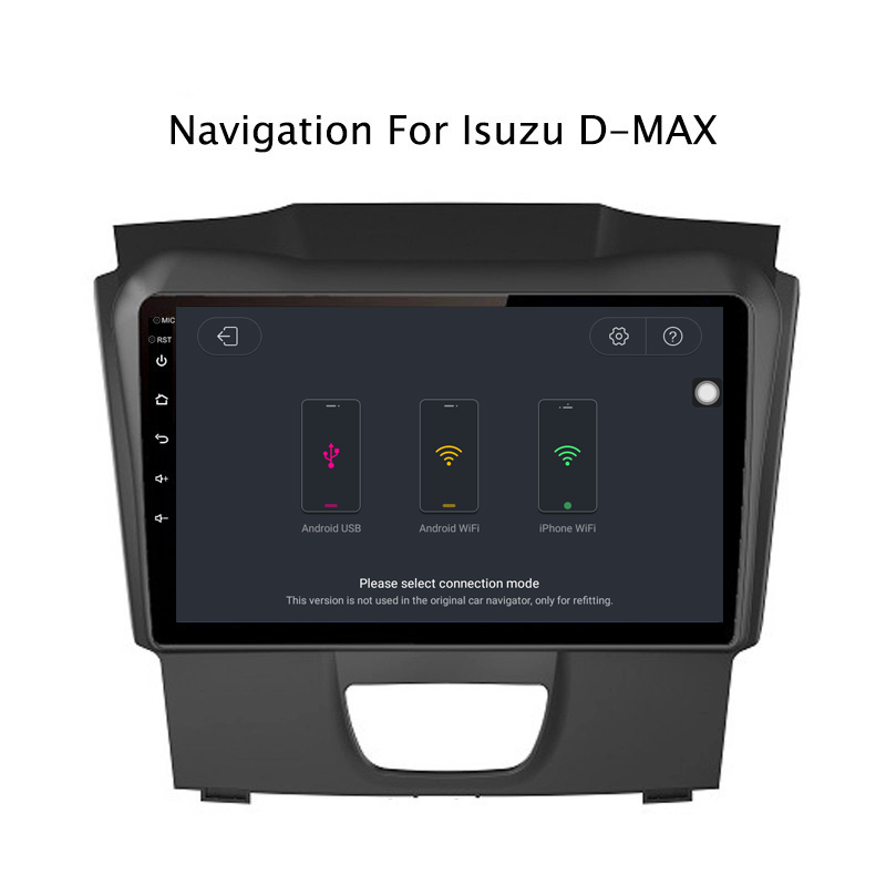 Perfect Ectwodvd 9inch Andriod 8.1 Car DVD GPS For Isuzu D-MAX DMAX 2015-2018 4G RAM 64G ROM CarPlay DSP 4G LTE with WIFI 8