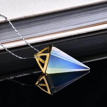 Conical Pyramid Pendant Jewelry Pendants cb5feb1b7314637725a2e7: army green|Black|Blue|Deep Blue|Green|Light Green|White