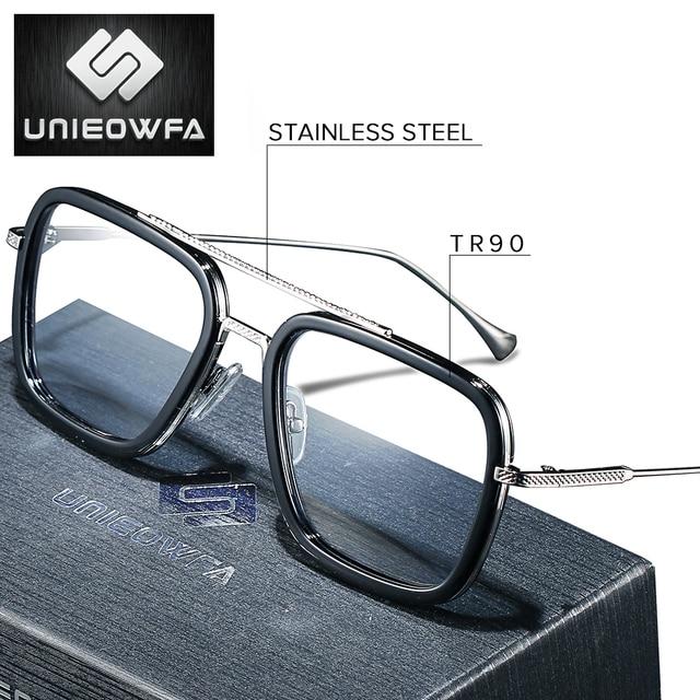 Optique ordinateur lunettes hommes cadre Anti lumière bleue bloquant Prescription lunettes cadre myopie clair jeu lunettes cadre