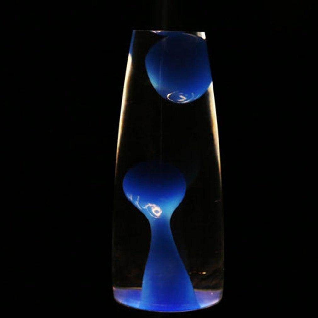 Lámpara de Lava con Base metálica bonita de gran oferta, lámpara de cristal con cera estilo volcán, luz nocturna, medusas, luz nocturna, lámparas de iluminación de Lava, 1 pieza