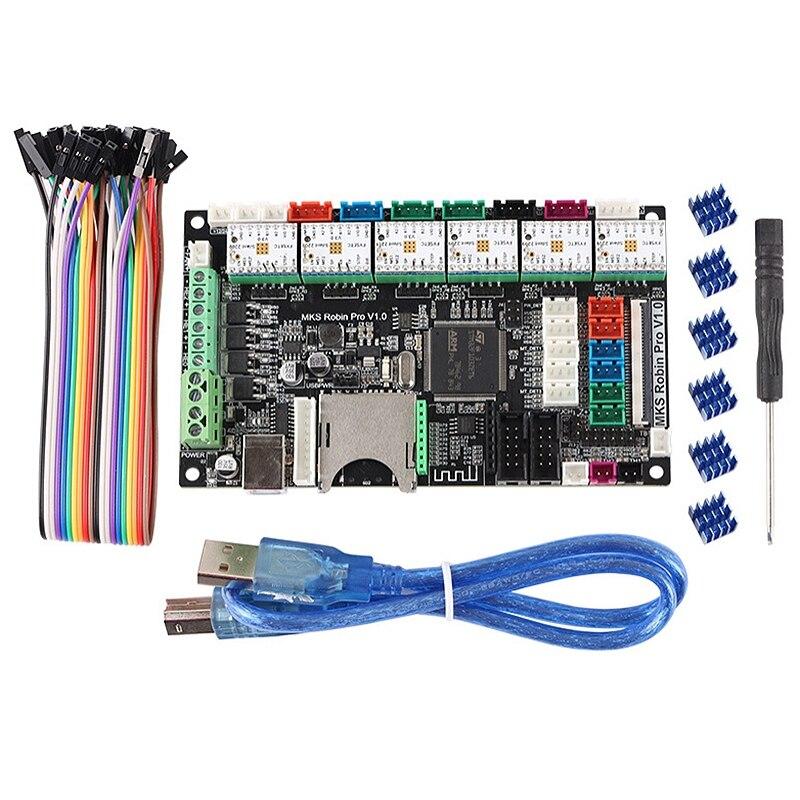 Аксессуары для 3d принтера Dual Z Axis 3 печатающая головка материнская плата MKS Robin Pro + TMC2209 драйвер Marlin 2,0