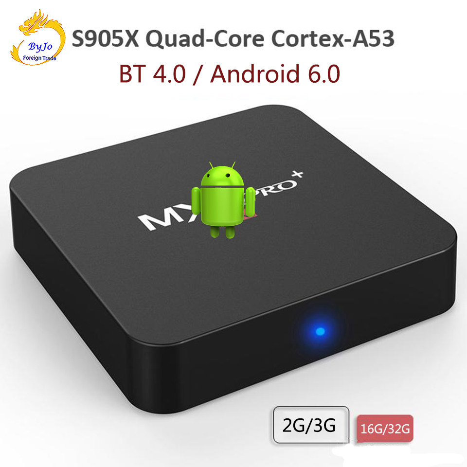 <font><b>MX</b></font> Pro+ Android TV <font><b>Box</b></font> S905X Quad Core 2G 16G or 3G 32G Bluetooth 4.0 Android 6.0 TV <font><b>BOX</b></font> 2.4G Wifi Set top <font><b>box</b></font> image