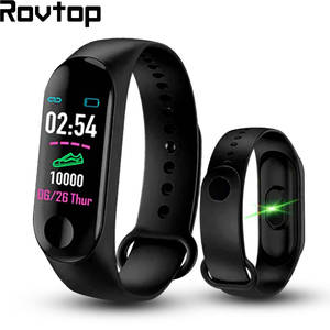 Rovtop Pedometer Watches Bracelet Smart-Wristband Heart-Rate Fitness Electronic M3-Plus